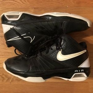 Nike Air Visi Pro 2 Basketball Shoes Black/White
